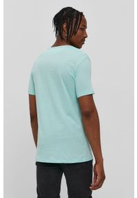 John Frank - T-shirt. Okazja: na co dzień. Kolor: zielony. Wzór: nadruk. Styl: casual