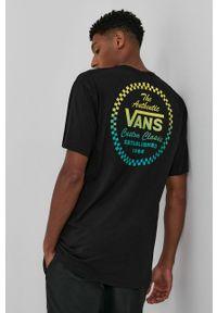 Vans - T-shirt bawełniany. Okazja: na co dzień. Kolor: czarny. Materiał: bawełna. Wzór: nadruk. Styl: casual