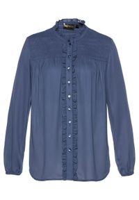 Niebieska bluzka bonprix elegancka