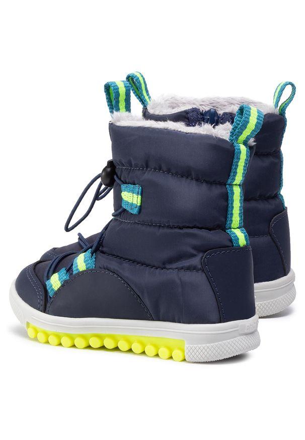 Niebieskie śniegowce Bibi z cholewką