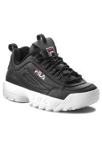 Czarne buty sportowe Fila z cholewką, na co dzień