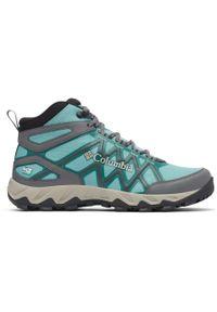 Niebieskie buty trekkingowe columbia