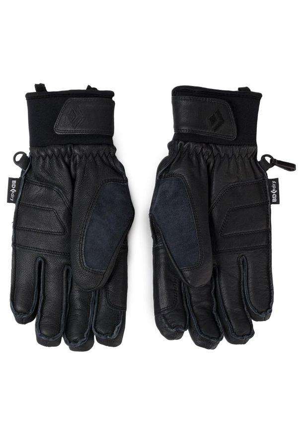 Czarne rękawiczki sportowe Black Diamond narciarskie