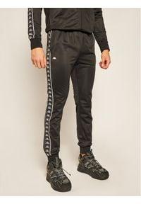 Kappa Spodnie dresowe Helge 308020 Czarny Regular Fit. Kolor: czarny. Materiał: dresówka