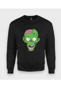 MegaKoszulki - Bluza klasyczna Zielony zombie. Kolor: zielony. Styl: klasyczny
