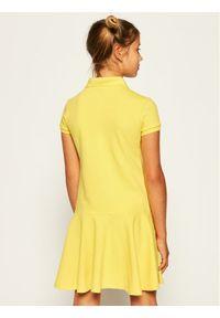 Żółta sukienka Polo Ralph Lauren na co dzień, prosta, polo