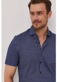 Baldessarini - Koszula. Typ kołnierza: kołnierzyk klasyczny. Kolor: niebieski. Materiał: włókno, materiał, tkanina, dzianina, bawełna. Długość rękawa: krótki rękaw. Długość: krótkie. Styl: klasyczny #1