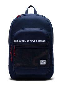 Niebieski plecak Herschel z nadrukiem
