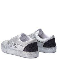 Srebrne buty sportowe Trussardi Jeans