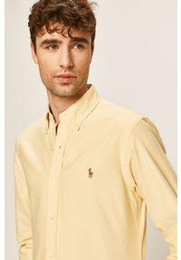 Żółta koszula Polo Ralph Lauren polo, gładkie, na co dzień, długa