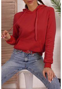 Czerwona bluza IVET na co dzień, z kapturem, casualowa