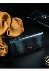ROVICKY - Portfel damski skórzany RFID czarny Rovicky. Kolor: czarny. Materiał: skóra
