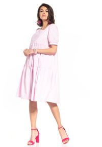 Różowa sukienka Tessita midi