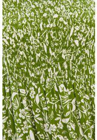 Zielona sukienka Answear Lab w kwiaty, z dekoltem karo