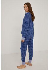 Lauren Ralph Lauren - Piżama. Kolor: niebieski. Materiał: dzianina