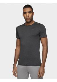 4f - Koszulka treningowa męska. Kolor: czarny. Materiał: materiał, dzianina