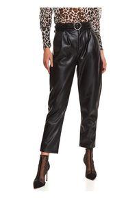 Czarne spodnie TOP SECRET z podwyższonym stanem, długie