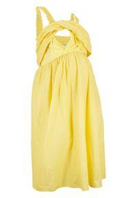 Żółta sukienka bonprix moda ciążowa