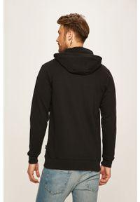 Czarna bluza rozpinana Vans casualowa, z kapturem, na co dzień, z nadrukiem