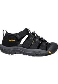 Czarne sandały keen sportowe, w kolorowe wzory