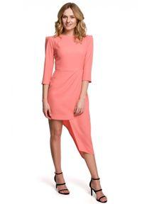 Sukienka wizytowa asymetryczna, elegancka