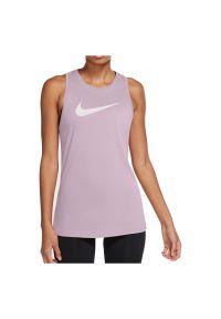 Koszulka damska treningowa Nike Dri-FIT DD2796. Materiał: poliester, materiał, bawełna. Długość rękawa: bez rękawów. Technologia: Dri-Fit (Nike). Sport: fitness