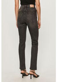 Szare jeansy Pepe Jeans z podwyższonym stanem