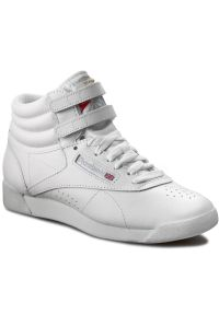 Białe buty sportowe Reebok na co dzień, z cholewką