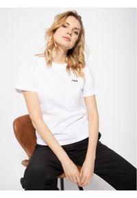 Fila T-Shirt Eara 687469 Biały Regular Fit. Kolor: biały