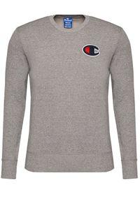 Champion Bluza Satin C Logo 214189 Szary Comfort Fit. Kolor: szary