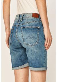 Niebieskie szorty Pepe Jeans gładkie, casualowe, na co dzień