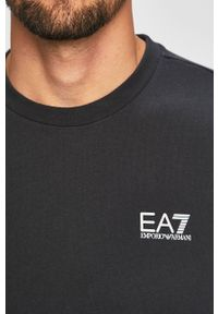 Niebieska bluza nierozpinana EA7 Emporio Armani bez kaptura, na co dzień