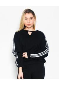 CRISTINAEFFE - Czarna bluza z lampasem. Kolor: czarny