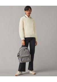 Tory Burch - TORY BURCH - Plecak w kratę Piper Gingham. Kolor: czarny. Materiał: materiał. Wzór: kratka