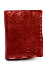 ROVICKY - Etui na karty czerwone Rovicky N1909-RVTK RED. Kolor: czerwony. Materiał: skóra