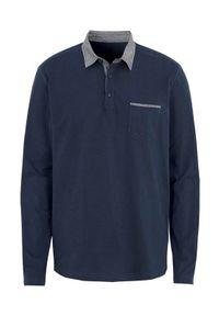 Niebieski sweter Cellbes z dekoltem woda, z długim rękawem, długi