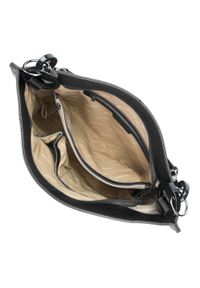 Czarna torebka worek Wittchen duża, na ramię