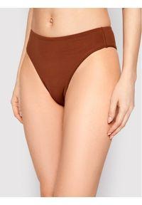 Seafolly Dół od bikini Wide Side 40629-058 Brązowy. Kolor: brązowy