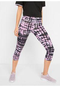 Fioletowe spodnie bonprix z nadrukiem
