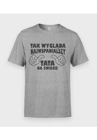 MegaKoszulki - Koszulka męska na dzień taty - Najwspanialszy tata. Materiał: bawełna