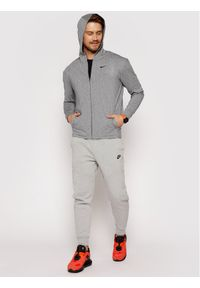 Nike Bluza techniczna Dri-Fit BQ2864 Szary Regular Fit. Kolor: szary. Technologia: Dri-Fit (Nike)