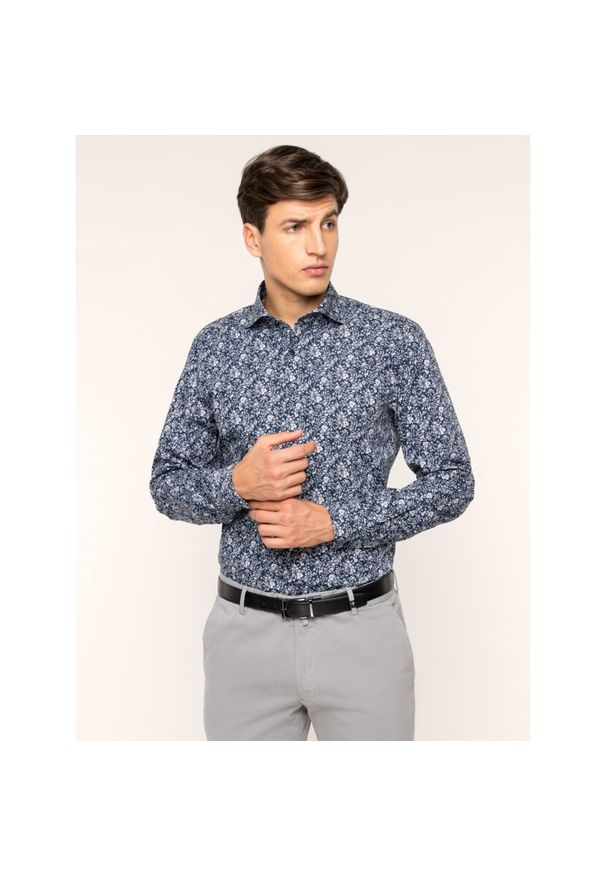 Niebieska koszula casual Strellson