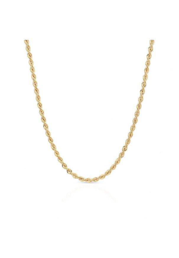 W.KRUK Zjawiskowy Łańcuszek Złoty - złoto 585 - ZVI/LK01. Materiał: złote. Kolor: złoty. Wzór: ze splotem