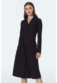 Czarna sukienka Nife szmizjerki