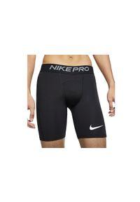Czarne spodenki sportowe Nike w kolorowe wzory