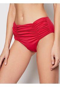 Seafolly Dół od bikini Gathered Front Retro 40343-065 Czerwony. Kolor: czerwony