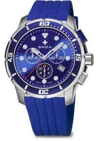 Zegarek Swiza Zegarek męski Tetis Chrono SST niebieski (WAT.0463.1003). Kolor: niebieski