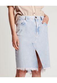 ONETEASPOON - Jeansowa spódnica Purple Hazel. Kolor: niebieski. Materiał: jeans. Długość: do kolan