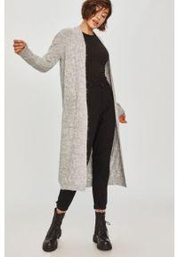 Szary sweter rozpinany Answear Lab długi, wakacyjny