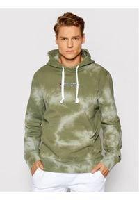 Champion Bluza Tie Dye 216160 Zielony Comfort Fit. Kolor: zielony